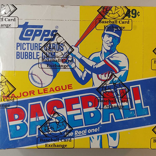 1984 Topps Baseball Cello Pack  (Personal Pack Only)