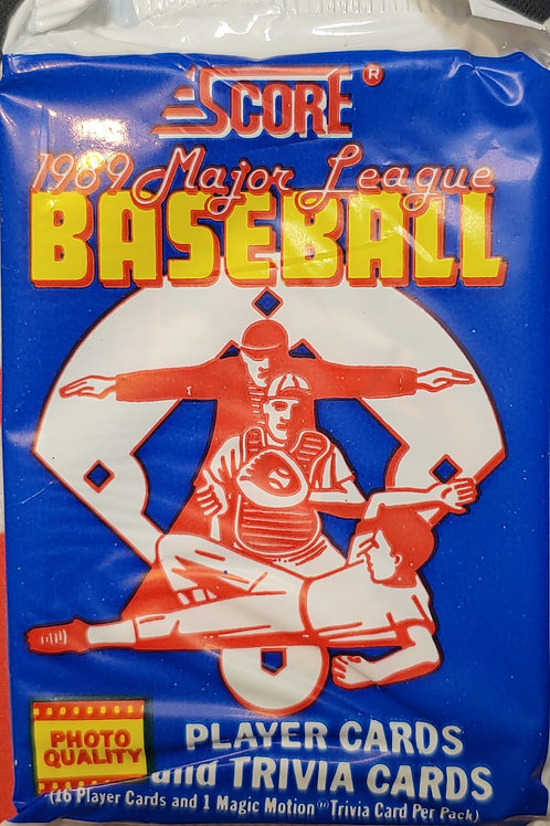 1989 Score Baseball (Personal Pack Only) 3 Packs for price!