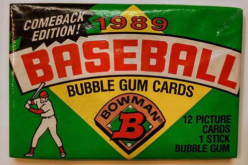 1989 Bowman Baseball Wax Pack (Personal Pack Only)