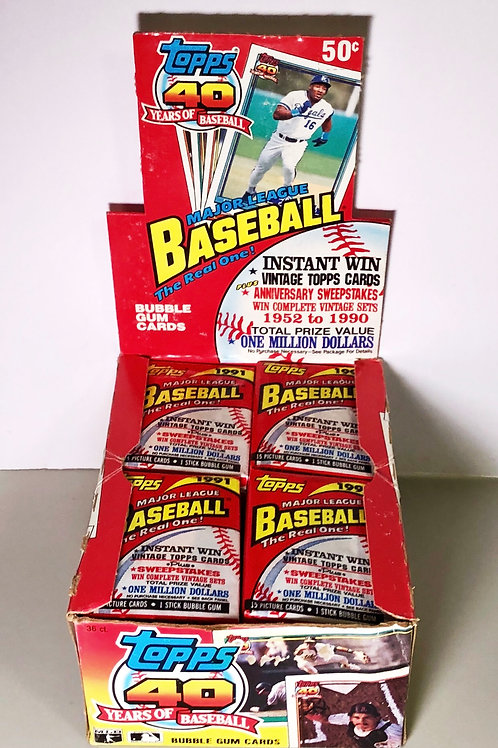 1991 Topps Baseball (Personal Pack Only) 4 packs for price!