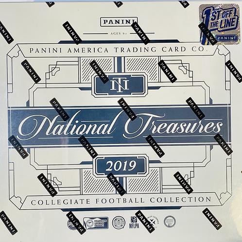 2019 National Treasures Collegiate Football FOTL:30 Spot Random Team Group Break