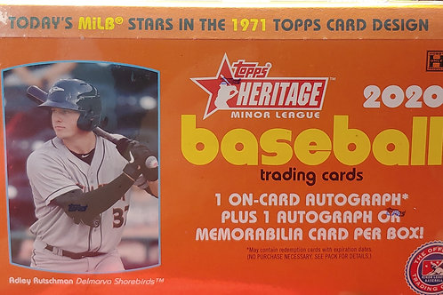 2020 Topps Heritage Minors (Personal Pack Only)