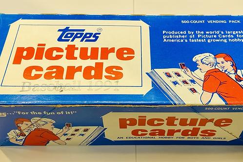 1991 Topps Baseball 500 CT Vending Box (Full Box Rip)