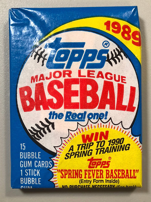 1989 Topps Baseball Wax Pack (Personal Pack Only)