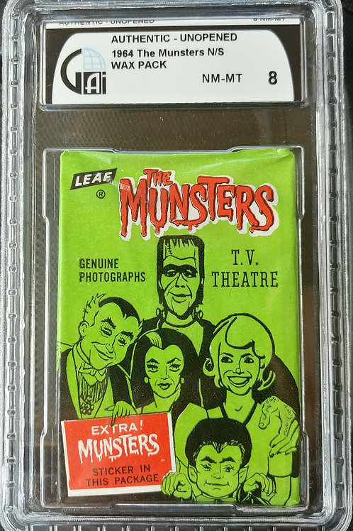 1964 Leaf The Munsters Wax Pack GAI 8 (Personal Pack Only)