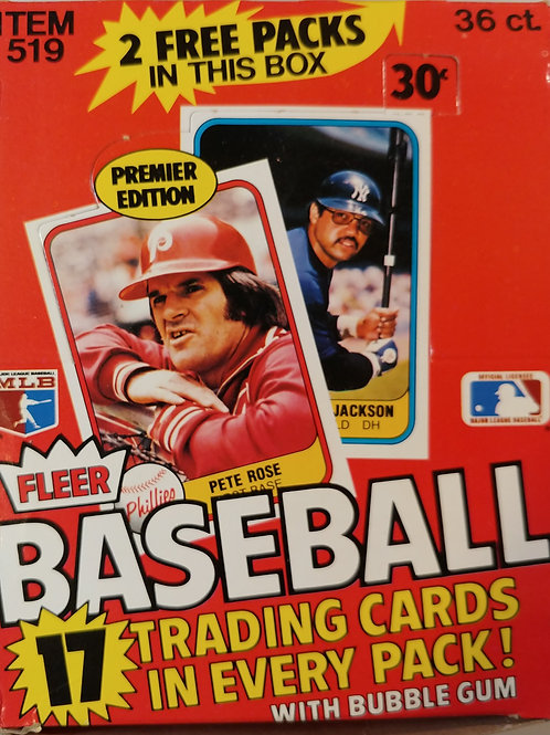 (2)1981 Fleer Baseball Wax Packs (Personal Pack Only) 2 Packs for Price!