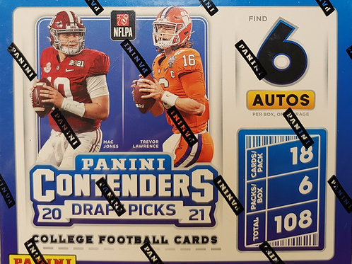 2021 Contenders Draft Football Hobby (Personal Pack Only)