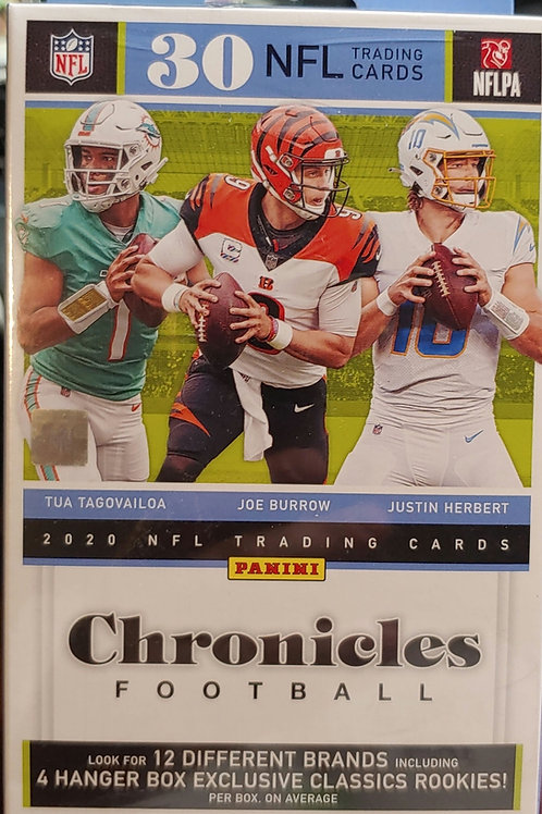 2020 Chronicles Football Hanger Box (Personal Pack Only)