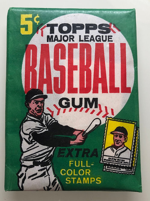 1962 Topps Baseball Wax Pack (Personal Pack Only)