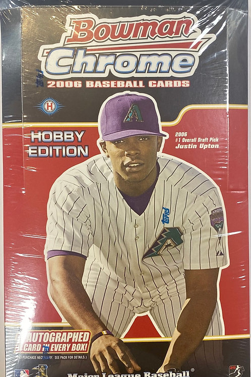 2006 Bowman Chrome Hobby Baseball (Personal Pack Only)