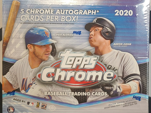 2020 Topps Chrome Jumbo: 1 Box 30 Spot Random Team Group Break
