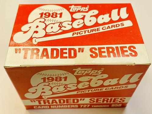 1981 Topps Baseball Traded Set (Full Box Rip)