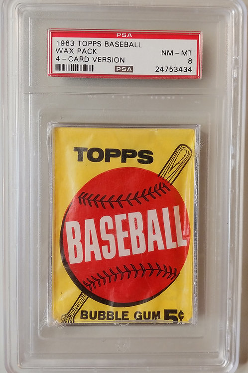 1963 Topps Baseball Wax Pack 4 Card Version 2nd/3rd Series! (Personal Pack Only)