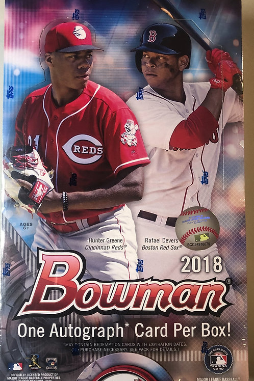 2018 Bowman Hobby Baseball (Personal Pack Only)