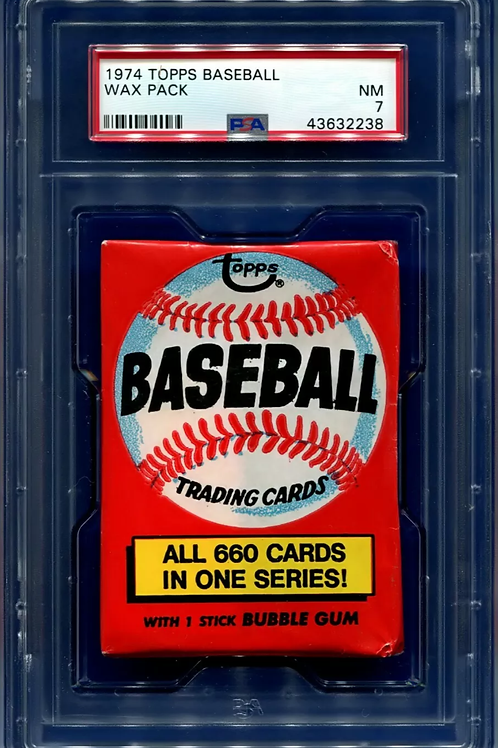 1974 Topps Baseball Wax Pack PSA 7 (Personal Pack Only)