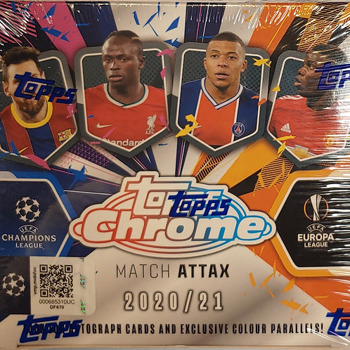 2020/21 Topps Chrome Match Attax Soccer (Personal Pack Only)
