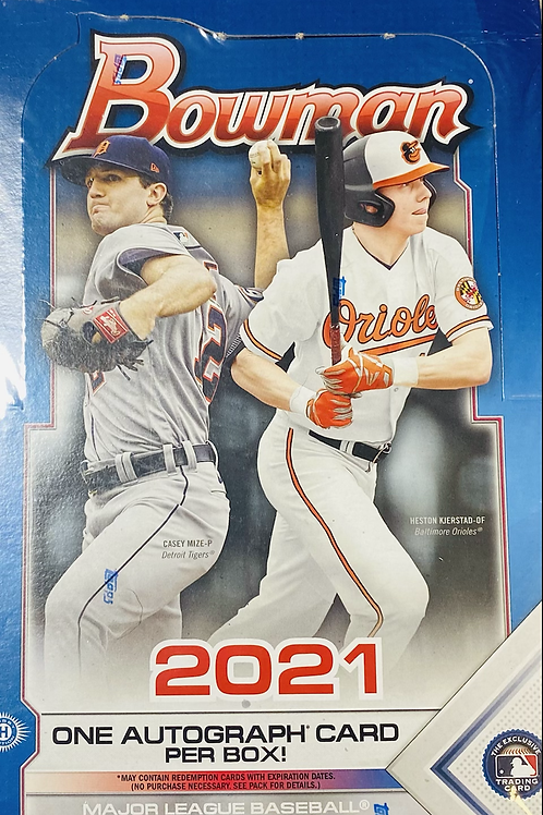 2021 Bowman Baseball Hobby  (Personal Pack Only)