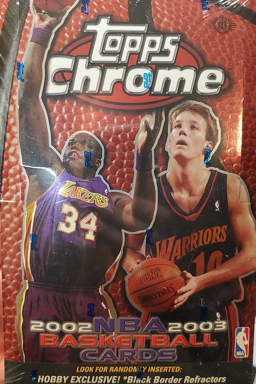 2002 Topps Chrome Hobby Basketball (Personal Pack Only)