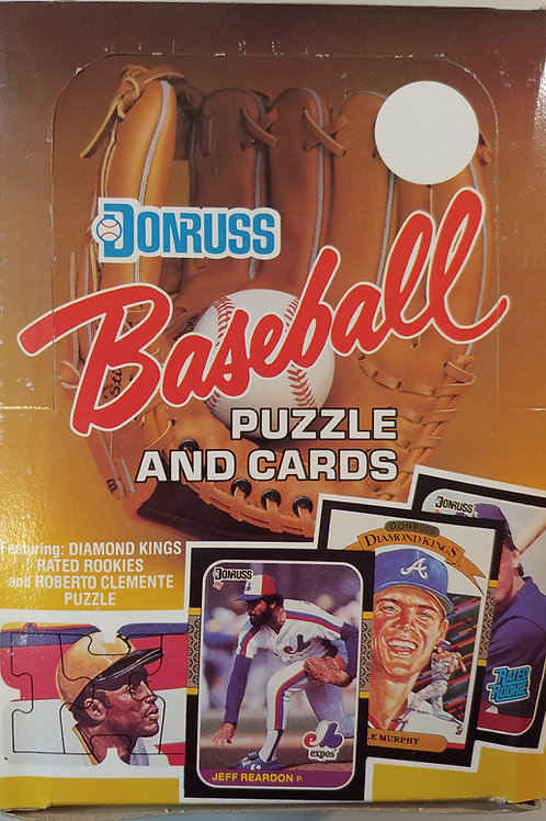 (3)1987 Donruss Baseball Wax Packs (Personal Pack Only) 3 Packs for Price!