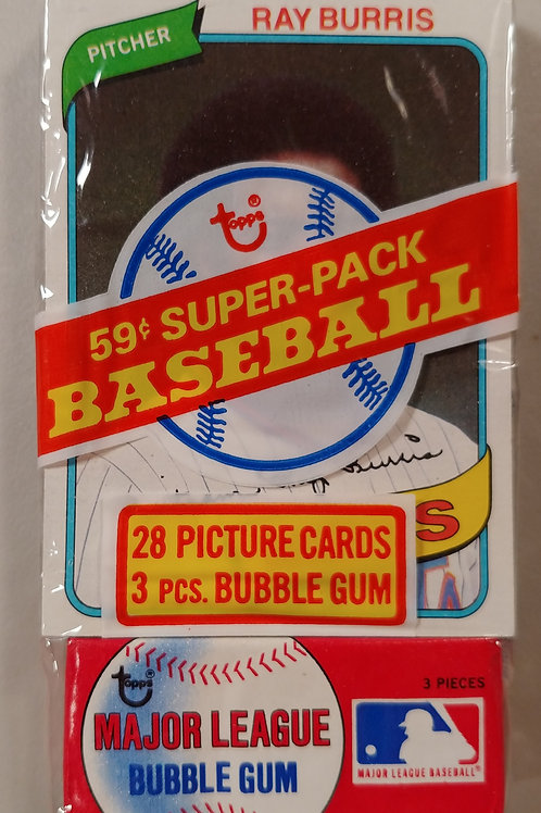 1980 Topps Baseball Super Cello Pack (Personal Pack Only)