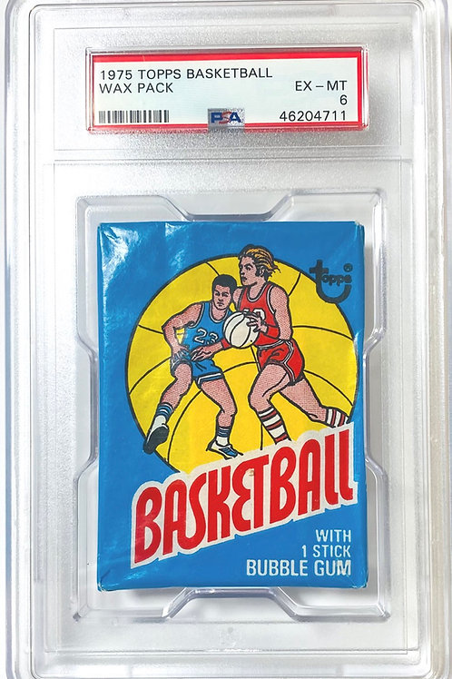 1975 Topps Basketball Wax Pack PSA 6 (Personal Pack Only)