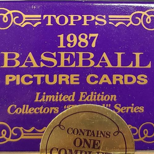 1987 Topps Traded Tiffany Box (Full Box Rip)