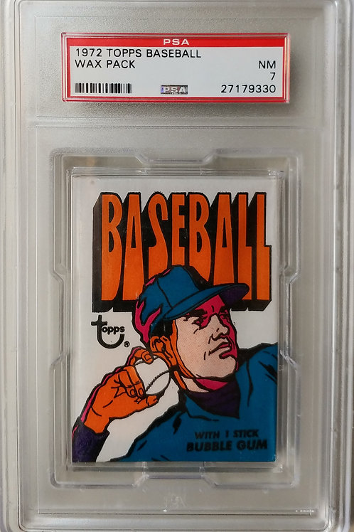 1972 Topps Baseball 1st Series Wax Pack (Personal Pack Only)