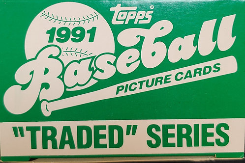 1991 Topps Traded Set (Full Box Rip)