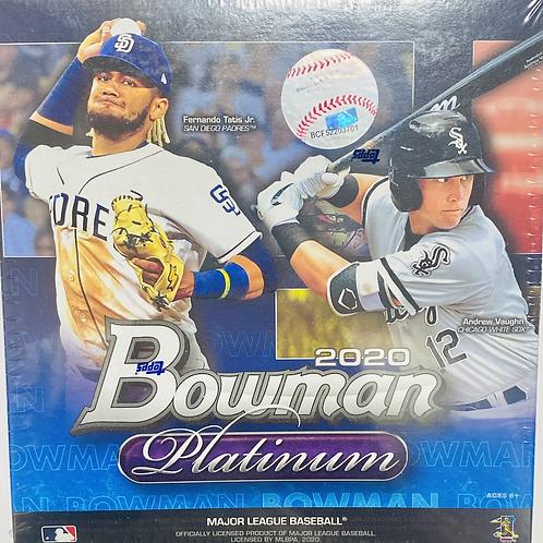 2020 Bowman Platinum Baseball (Full Box Rip)