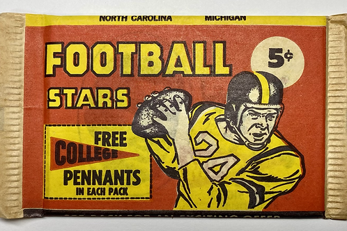 1961 Nu Card Football 5 Cent Nickel Pack