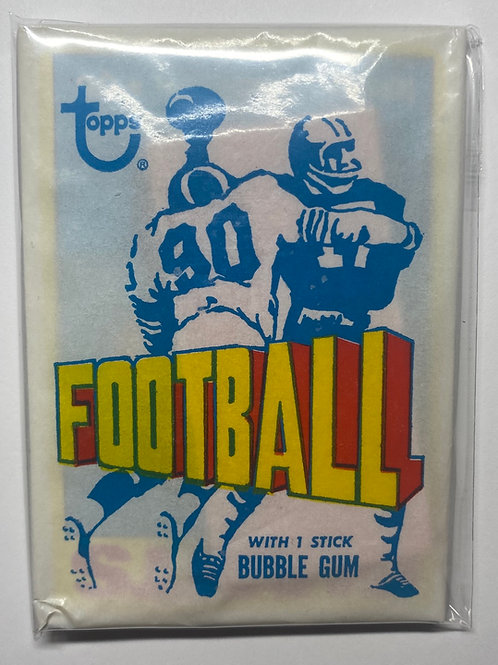 1972 Topps Football 3rd Series Wax Pack (Personal Pack Only)
