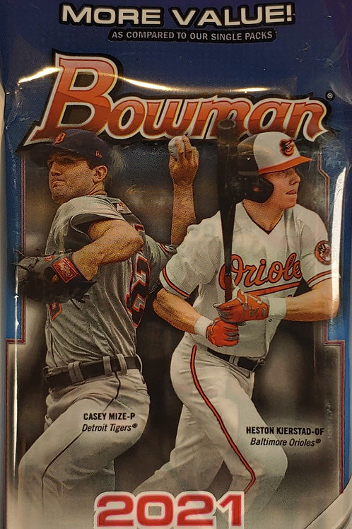 2021 Bowman Baseball Fat Pack (Personal Pack Only)