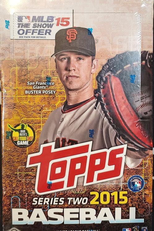 2015 Topps Baseball Series 2 Hobby (Personal Pack Only)
