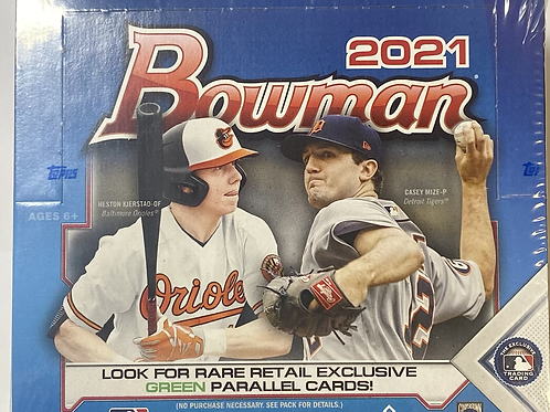2021 Bowman Baseball Retail Pack (Personal Pack Only)