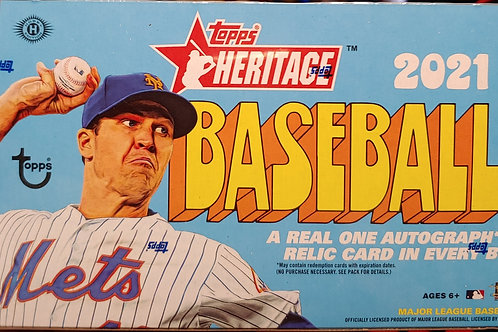 2021 Topps Heritage Baseball Hobby (Personal Pack Only)