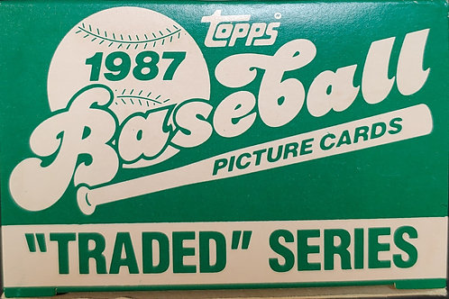 1987 Topps Traded Set (Full Box Rip)