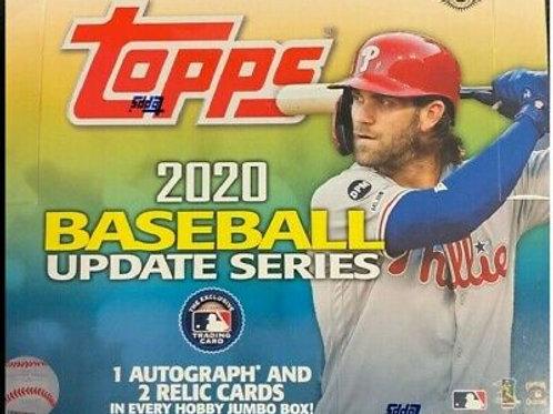 2020 Topps Update Hobby Jumbo (Personal Pack Only)
