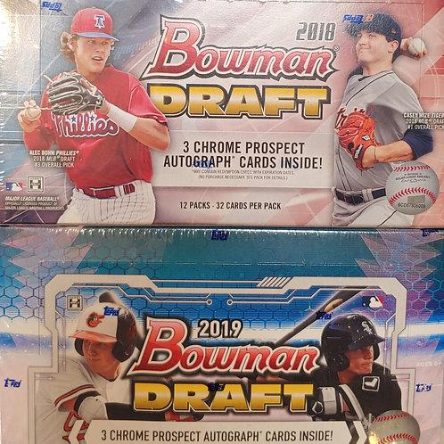 2018+2019 Bowman Draft Baseball:2 Box/30 Spot Random Team Group Break
