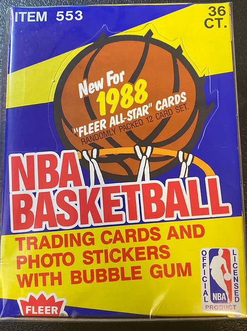 1988 Fleer Basketball FASC Wax Pack (Personal Pack Only)