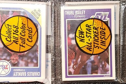 1989 Fleer Basketball Rack Pack (Personal Rack Only)