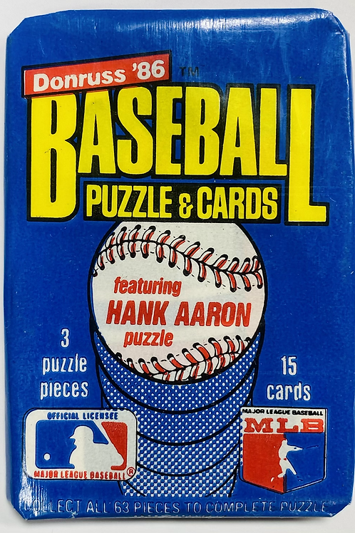1986 Donruss Baseball Wax Pack (Personal Pack Only)