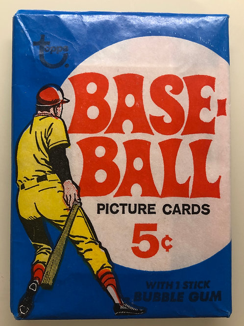 1969 Topps Baseball Wax Pack (Personal Pack Only)