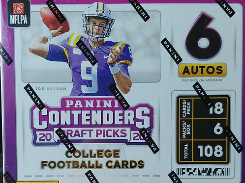 2020 Contenders Draft Picks Hobby Football (Personal Pack Only)