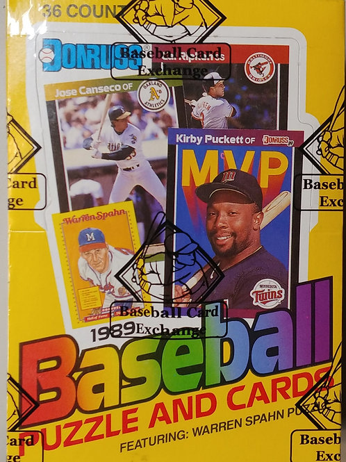 1989 Donruss Baseball Wax Pack (Personal Pack Only)
