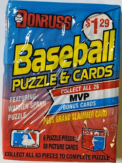 1989 Donruss Baseball Cello Pack (Personal Pack Only)