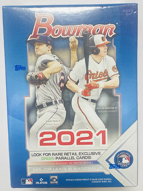2021 Bowman Baseball Blaster Pack (Personal Pack Only)