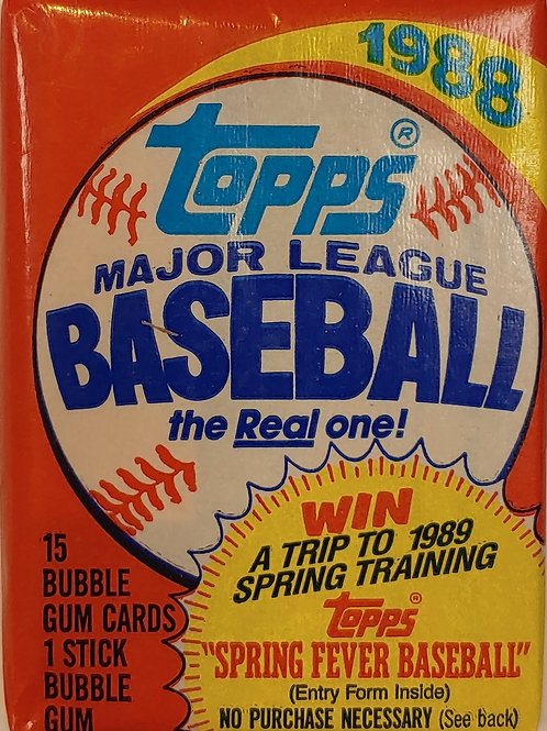 1988 Topps Baseball Wax Pack (Personal Pack Only)