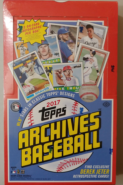 2017 Topps Archives Baseball Hobby Pack (Personal Pack Only)
