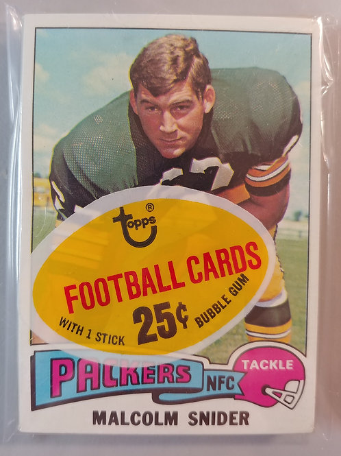 1975 Topps Football Cello Pack (Personal Pack Only)