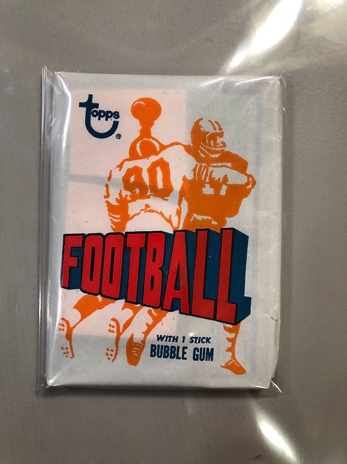 1972 Topps Football 2nd Series Wax Pack  (Personal Pack Only)